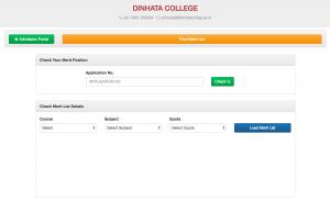 dinhata college merit list 2018 provisional result dinhata college admission 2018-19 check online