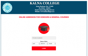 kalna college merit list 2018 admission in honous general pass courses