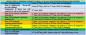 Haringhata Mahavidyalaya admission schedule