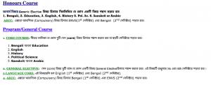 Nabagram Amar Chand Kundu College seat subject combination