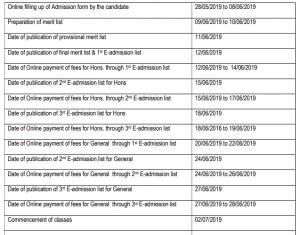 nandigram sitananda college admission schedule 2019-20