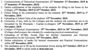 nbu exam routine 2019 1st 3rd semester Download