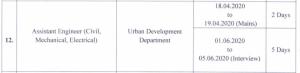jpsc ae examm date urban develppment dept