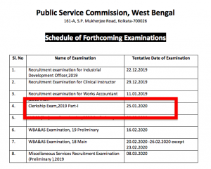 wbpsc clerkship exam date notification 2020