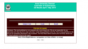 Anna University Results 2020 Download