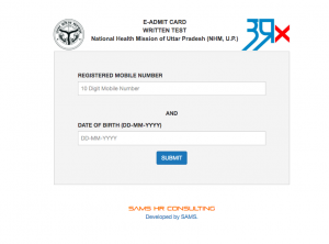 UP NHM Admit Card 2020 download