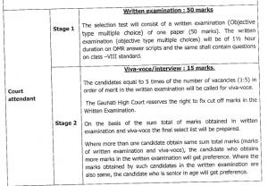 gauhati hc court attendant exam syllabus 2020 pattern download pdf
