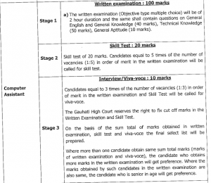 gauhati high court computer assistant exam pattern and syllabus download lnk pdf