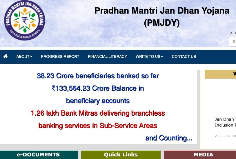 pm-jan-dhan-yojana-account-pmjdy-bank-payment-status-online