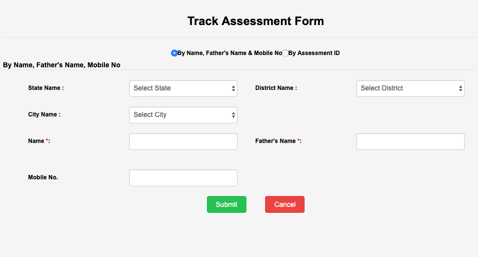 pmay urban list tracking with application id or name