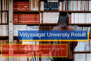 Vidyasagar University Semester Result Links published now for 2020-21