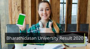 Bharathidasan University Result 2019-2020 BDU Merit List Cut off Marks www.bdu.ac.in Bharathidasan University Result 2020