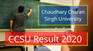 CCSU Result 2020- Check CCS University Marksheet for BA BSC BCOM 1st 2nd 3rd Year Result Online Chaudhary Charan Singh University Latest Declared Exam Result 2020 CCSU Exam Results 2020