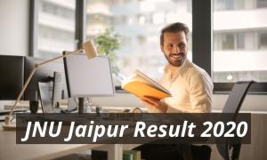 JNU Jaipur Result 2020 BSc BCA MBA BBA BA Exam Result jnujaipur.ac.in Jaipur National University Latest Declared Examination Results 2019 2020 Download