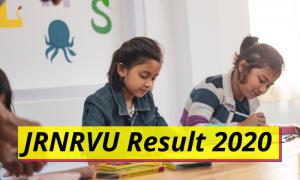 JRNRVU Result 2020 Udaipur BA BSC BCOM Results jrnrvu.edu.in Janardan Rai Nagar Rajasthan Vidyapeeth University Examination Results 2019 2020 Download