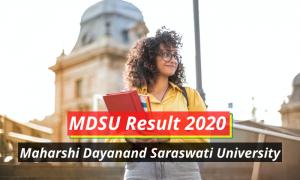 MDSU Result 2020 1st 2nd 3rd Year Part Wise MDSUAjmer.ac.in Maharshi Dayanand Saraswati University Result 2020 Part 1 2 3 BA BSc BCom