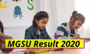 MGSU Result 2020 BA BSc BCom Part 1 2 3 mgsubikaner.ac.in Maharaja Ganga Singh University Bikaner Result 2020 1st 2nd 3rd Year UG PG Results 2019 2020 Download