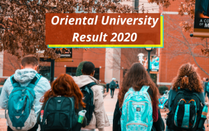 Oriental University Result 2020 Indore Semester Exam oui.edu.in University of Oriental Examination Results 2019-2020