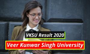 VKSU Results 2020 Part 1 2 3 Results www.vksu.ac.in Veer Kunwar Singh University Examination Result Download 2019-2020