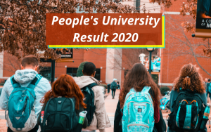 People's University Result 2020 Bhopal Diploma BBA Semester www.peoplesuniversity.edu.in People's University Exam Results 2019-2020