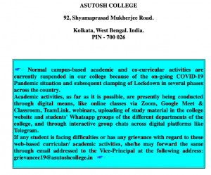 Asutosh College Merit List 2020 Expected List Publishing Date