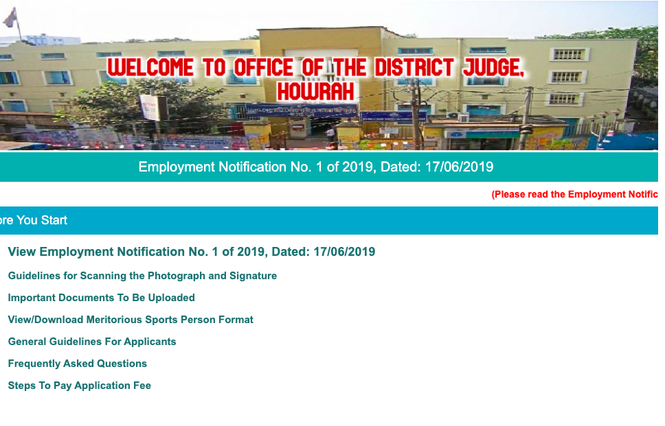 howrah district court result 2020