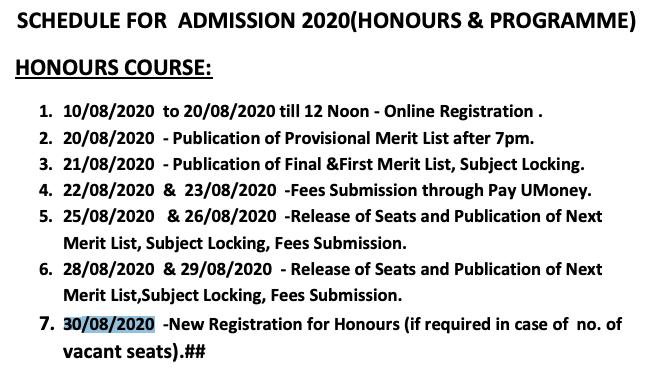 Barjora College Merit List notice 2020 Published here