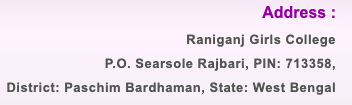 Raniganj Girls' College Merit List 2020 Admission BA B.SC B.COM Today any more important news visit our website