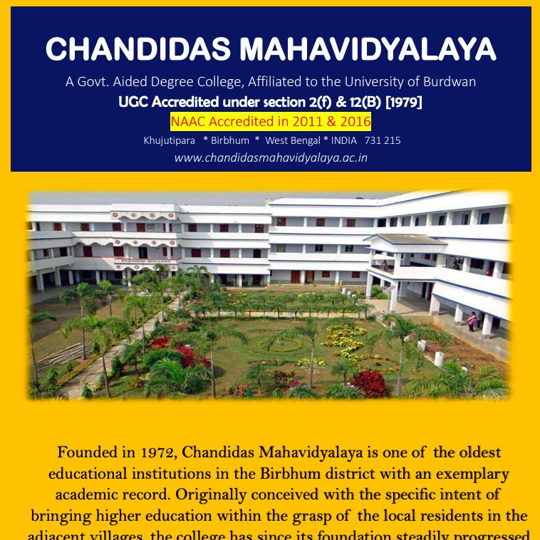 Chandidas Mahavidyalaya merit list downloading link