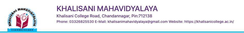 Khalisani Mahavidyalaya merit list schedule notice 2020