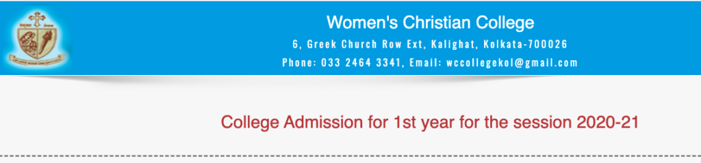Women's Christian College merit list admission 2020-21
