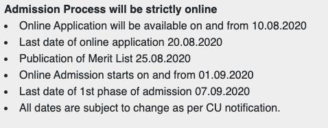 Bijoy Krishna Girls' College Merit list 2020 Admission Date Published