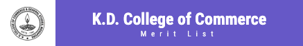 KD College Merit List 2020 Published Here
