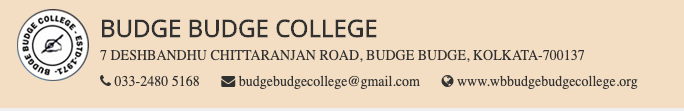 Budge Budge College Provisional Merit list 2020 Published