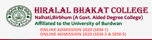 Nalhati Hiralal Bhakat College Merit List 2020 Published