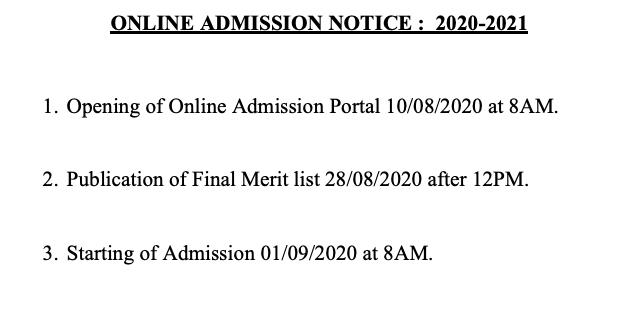 Kabi Sukanta Mahavidyalaya Merit List 2020 Important Date for Admission