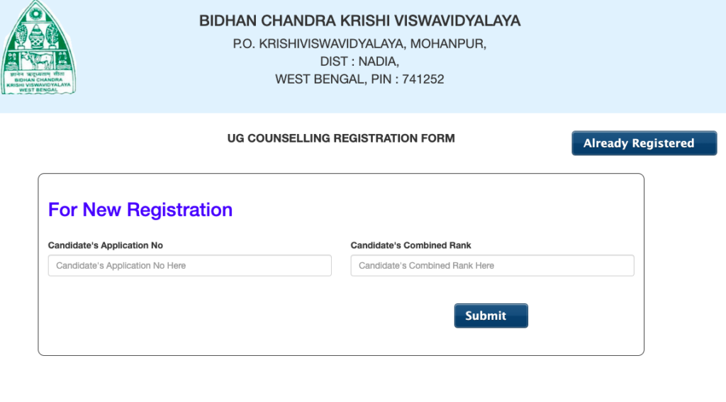 bckv counselling online registration process