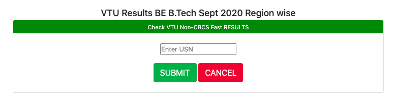 vtu results 2020 for semester b.e b.tech exam