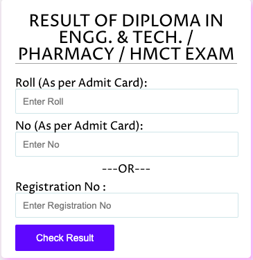 WBSCTE Result 2021 Diploma 1st 2nd 3rd 4th 5th 6th Semester Exam webscte.co.in