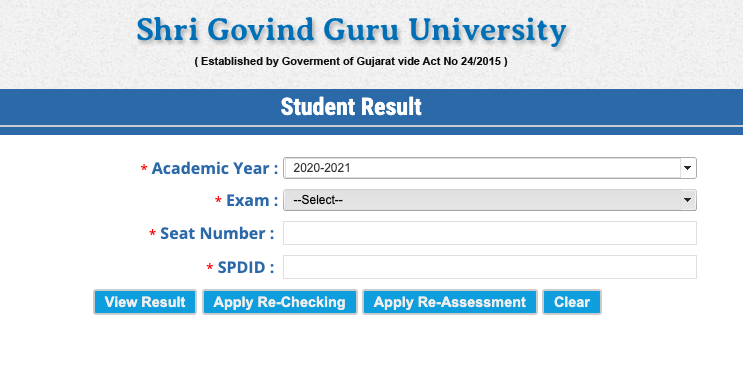SGGU Result 2020 for ug pg 1st 2nd 3rd 4th 5th 6th Semester