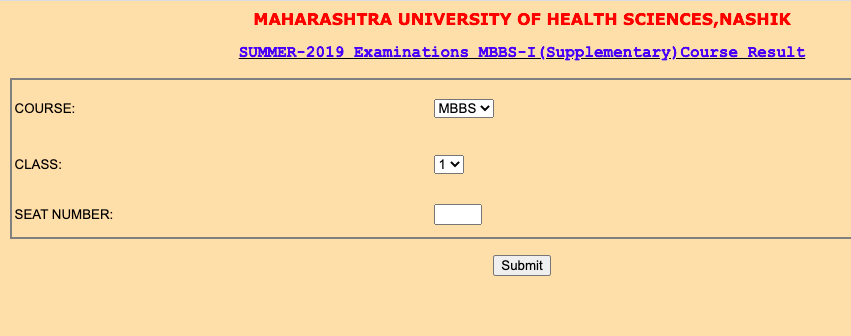 muhs result checking process for summer & winter exams online @ muhs.ac.in