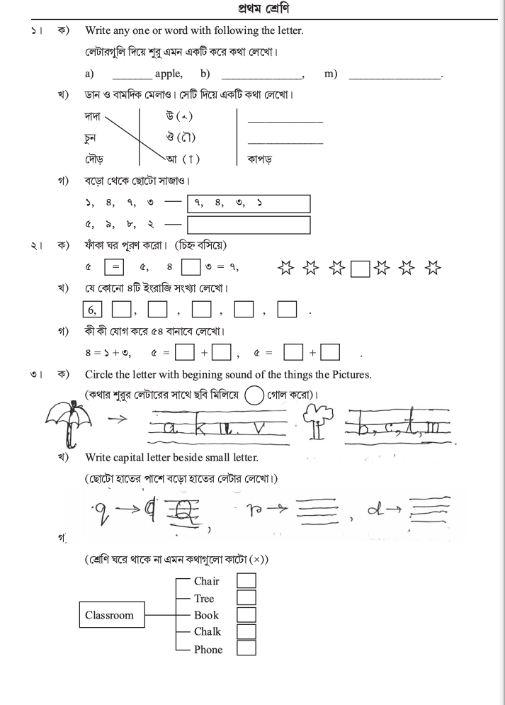 class 1 model activity task answers for part 1
