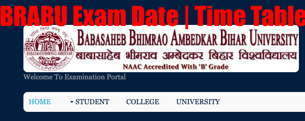 BRABU Exam Date 2020 BA, BSc, BCom Part 1 2 3