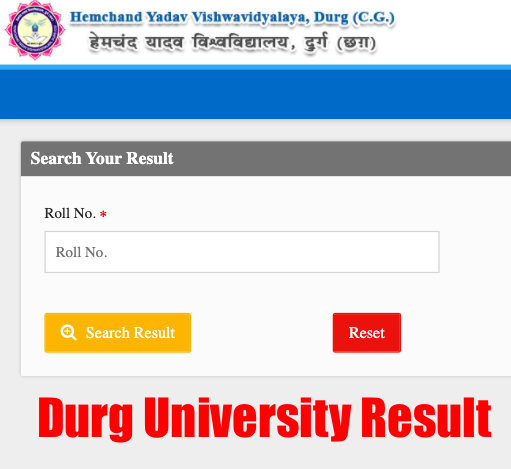durg university result 2020 checking window