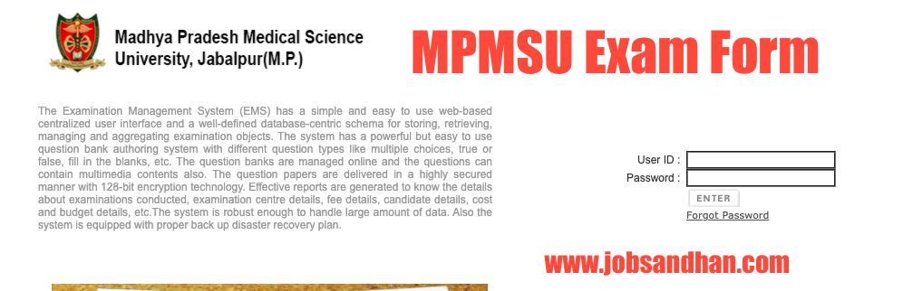MPMSU Admit Card 2020 Exam Form MBBS, BDS, BAMS, Nursing