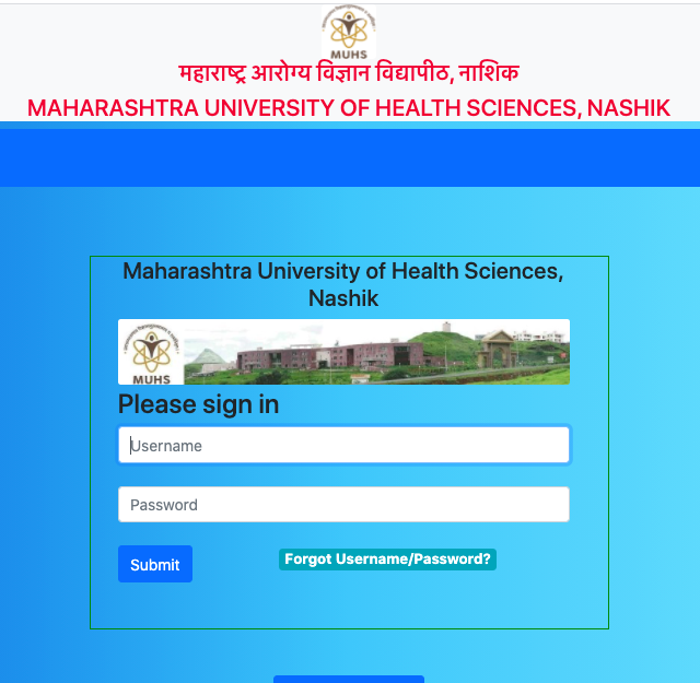 muhs admit card downloading link 2020 hall ticket schedule