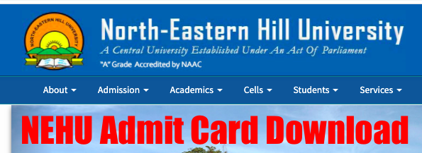 nehu admit card 2020 released for online exam