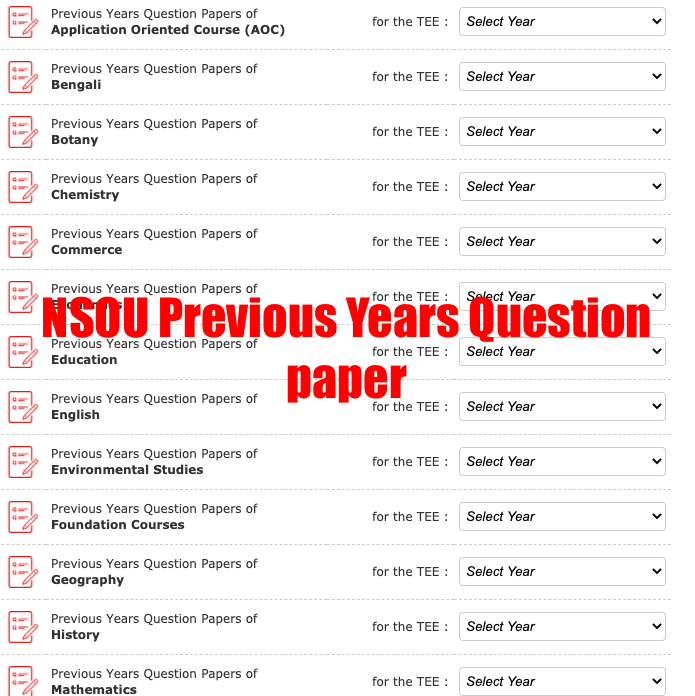 nsou bdp previous years question paper download link pdf