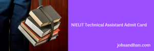 nielit scientific technical assistant admit card download 2020 hall ticket
