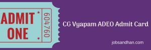 cg vyapam adeo admit card 2018 assistant grade 3 data entry operator hall ticket written test exam date cgvyapam.choice.gov.in
